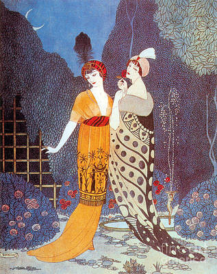 Evening Gown Photograph - Paquin Dress, George Barbier by Science Source