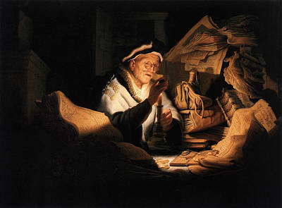 Fable Painting - Parable Of The Rich Man by Rembrandt van Rijn