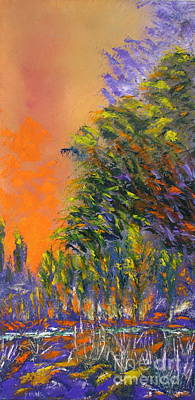 Paradise Aflame Art Print by Ellen Young