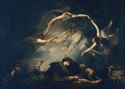 Night Angel Painting - Paradise Lost by Henry Fuseli