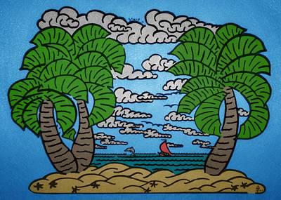 Paradise Maze Art Print by Morgan Rex