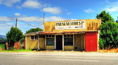 Parakoa Store New Zealand Art Print by Andrew Simmonds