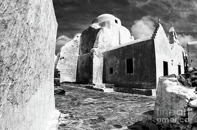 Photograph - Paraportiani Church Mykonos Greece by Bob Christopher