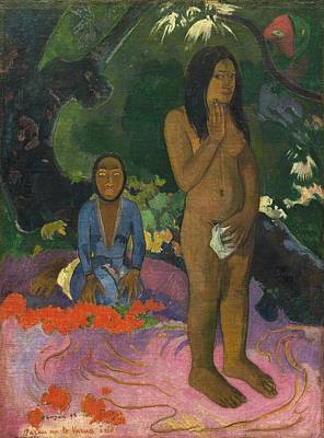 Painting - Parau Na Te Varua Ino  by Paul Gauguin