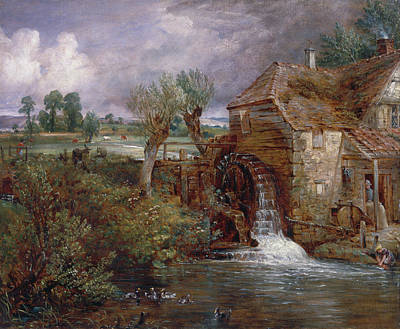 Wood Duck Painting - Parham Mill, Gillingham by John Constable