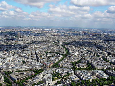 Photograph - Paris Aerial View by Anthony Dezenzio