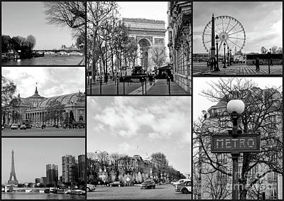 Photograph - Paris Collage by Lynn Bolt