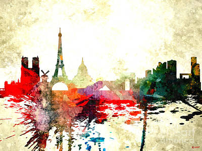 Mixed Media - Paris by Daniel Janda