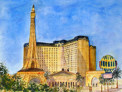 Paris Hotel And Casino Art Print by Vicki  Housel