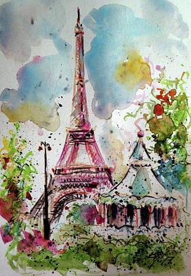 Paris Painting - Paris by Kovacs Anna Brigitta