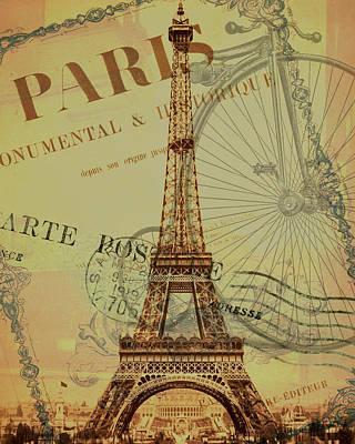 Paris Montage Print by Erin Cadigan