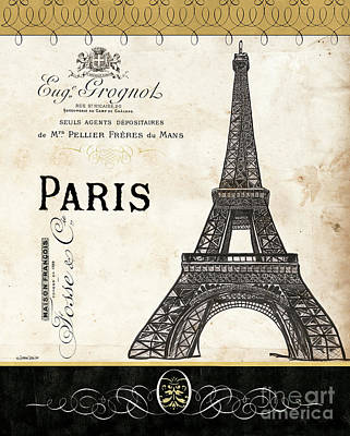 Paris Skyline Royalty-Free and Rights-Managed Images - Paris Ooh La La 1 by Debbie DeWitt