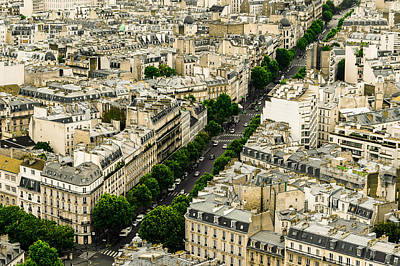 Paris Skyline Royalty-Free and Rights-Managed Images - Paris streets by Patrick Kain
