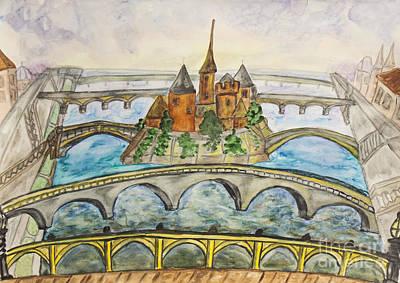 Painting - Paris, Watercolours by Irina Afonskaya