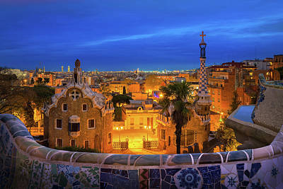 Photograph - Park Guell by Anek Suwannaphoom