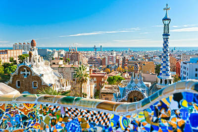 Park Guell Barcelona Art Print