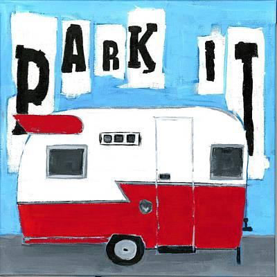 Park It Art Print by Debbie Brown