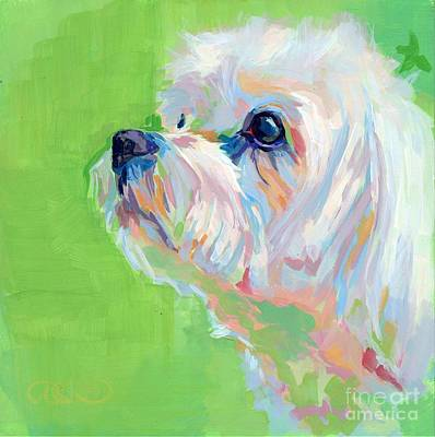 Puppies Painting - Parker by Kimberly Santini