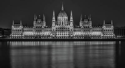 Budapest Hungary Attractions Photograph - Parliament - Budapest Hungary by Robert Balog