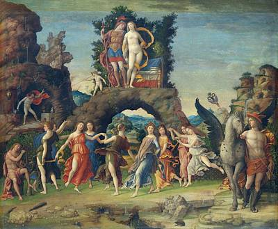 Mythological Painting - Parnassus by Andrea Mantegna