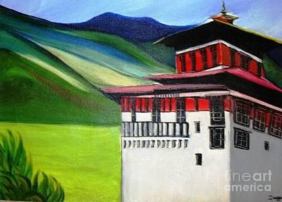 Paro Dzong Art Print by Duygu Kivanc