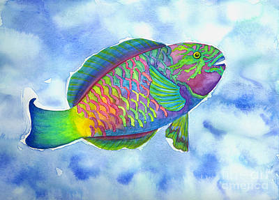 Parrotfish Painting - Parrotfish by Lucy Arnold