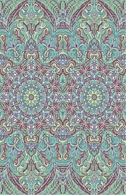 Tapestries - Textiles Digital Art - Parsley Design by Sandrine Kespi