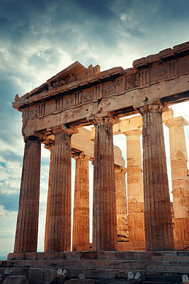 Photograph - Parthenon Temple  by Songquan Deng