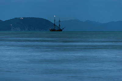 Photograph - Night Vessel - Vascello Di Notte by Enrico Pelos