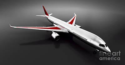Photograph - Passenger Airplane In Studio Or Hangar. Aircraft, Airline by Michal Bednarek