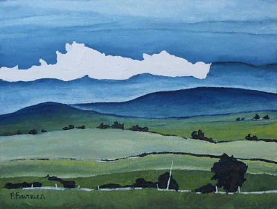 Eastern Townships Painting - Passing By by Francois Fournier
