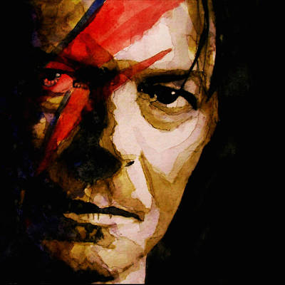 David Bowie Painting - Past And Present  by Paul Lovering