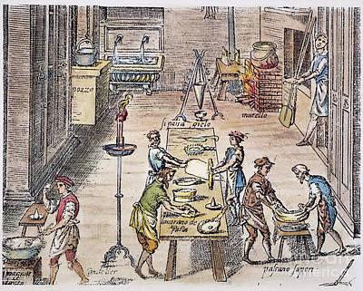 Pasta Making, 16th Century Art Print by Granger