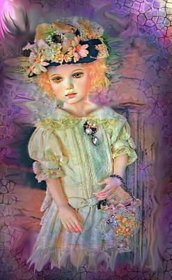 Digital Art - Pastel Baby Doll by Artful Oasis