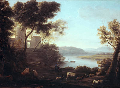 Fort Painting - Pastoral Landscape, The Roman Campagna by Claude Lorrain