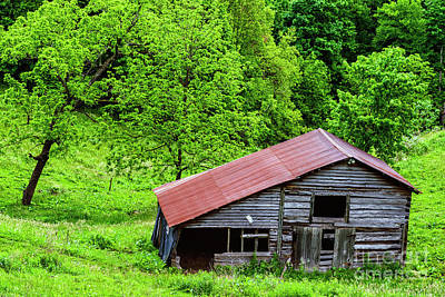Royalty-Free and Rights-Managed Images - Pasture Field and Barn by Thomas R Fletcher