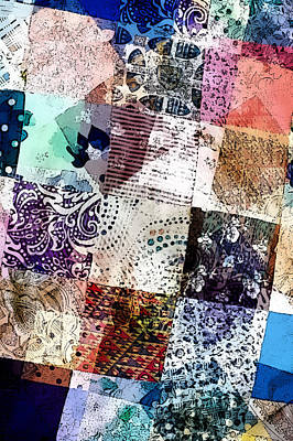 Quilt Art Photograph - Patchwork Abstract by Tom Gowanlock