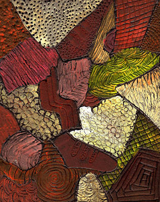 Earth Tones Painting - Patchwork by Wayne Potrafka