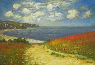 Corn Painting - Path Through The Corn At Pourville by MotionAge Designs