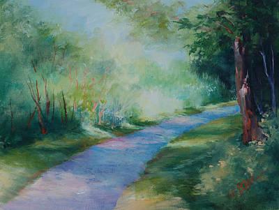 Path To The Pond Art Print by Donna Pierce-Clark