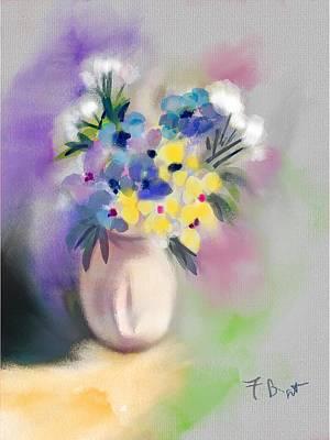 Digital Art - Patio Flowers by Frank Bright