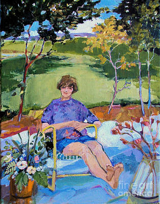 Painting - Patio Girl by Diane Ursin