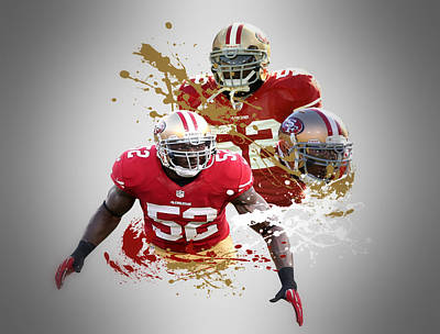 Patrick Willis 49ers Art Print by Joe Hamilton