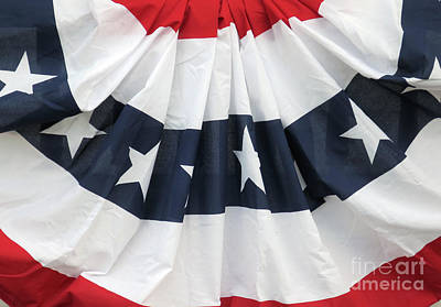 Patriotic Bunting Print by Ann Horn
