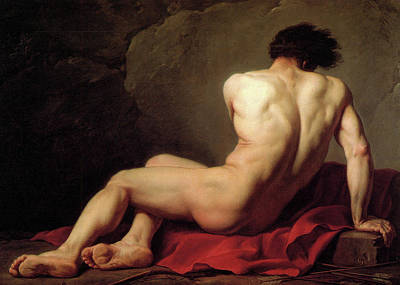 Myth Painting - Patroclus by Jacques-Louis David