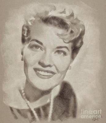 Musicians Drawings Rights Managed Images - Patti Page, Vintage Singer Royalty-Free Image by Esoterica Art Agency