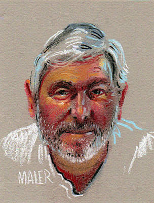 Pastel Portrait Drawing - Paul by Donald Maier