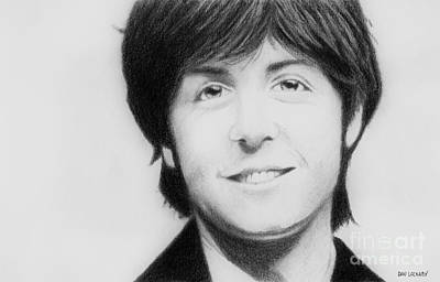 Light And Dark Drawing - Paul Mccartney by Dan Lockaby