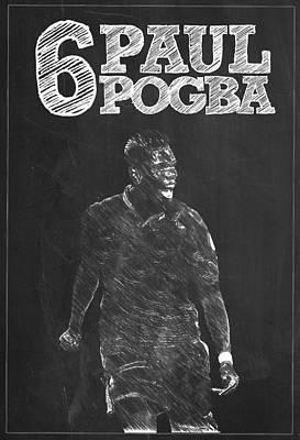 Soccer Digital Art - Paul Pogba by Semih Yurdabak