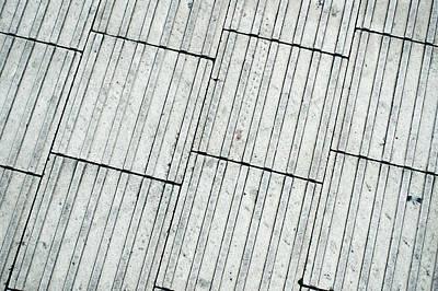 Flagstone Photograph - Paving Tiles by Tom Gowanlock